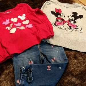 3 piece minnie mouse outfit